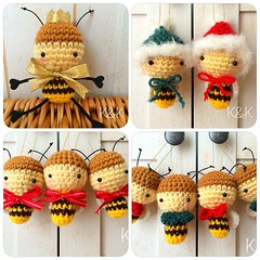 Many Buz-buz will be in #NY♡  #amigurumi #honeybee #crochet #animals #RESOBOX #christmas #santaclause #prince #あみぐるみ #ミツバチ #クリスマス #サンタクロース #プリンス #ニューヨーク