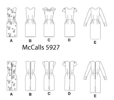 McCalls 5927 drawing