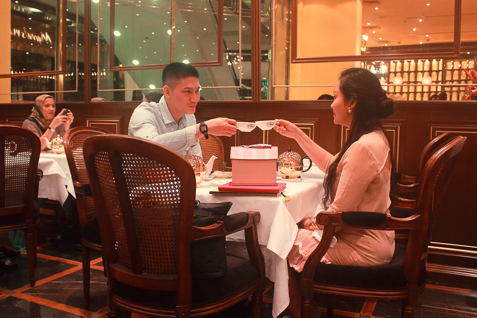 Toasting at TWG