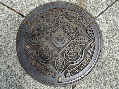 Koyaguchi Wakayama, manhole cover 5 (和歌山県高野口町のマンホール5)