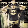 The clerk thought of Walter Mitty when he was talking with me #selfie #batman