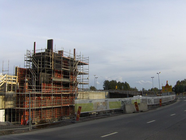 Hämeenlinnan moottoritiekate ja Goodman-kauppakeskus: Työmaatilanne 22.9.2012 - kuva 8