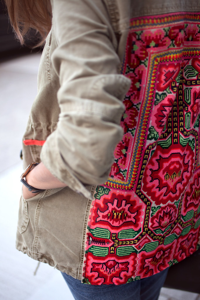 Diy embroidered jacket a pair spare