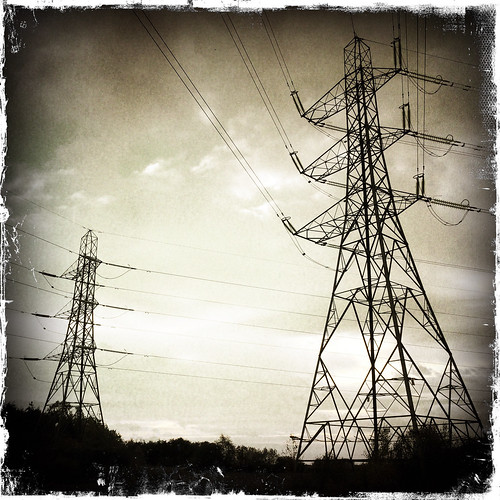 Pylons, Newport Wetlands