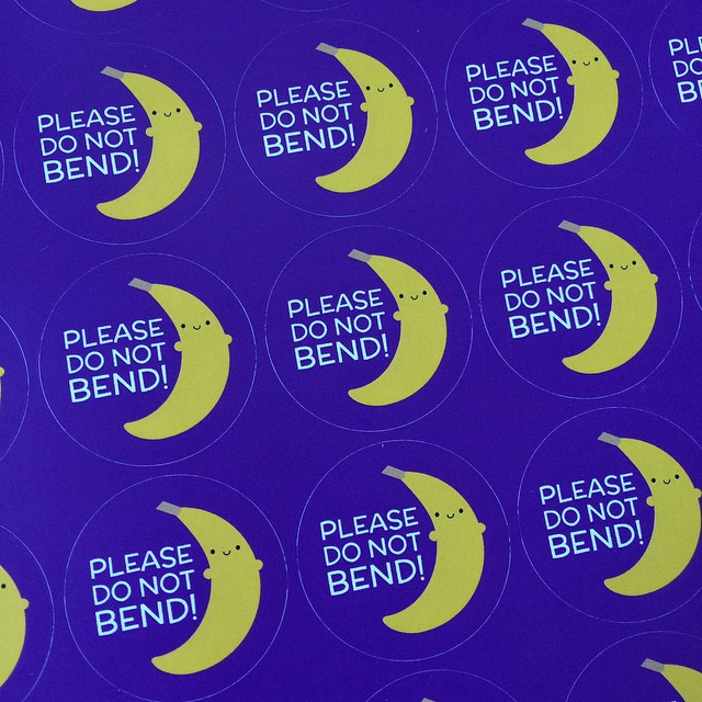 Who's got the best do not bend stickers? Me!