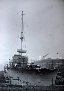 HMS Champion in dry dock