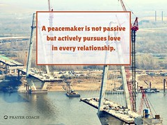 A peacemaker is not passive