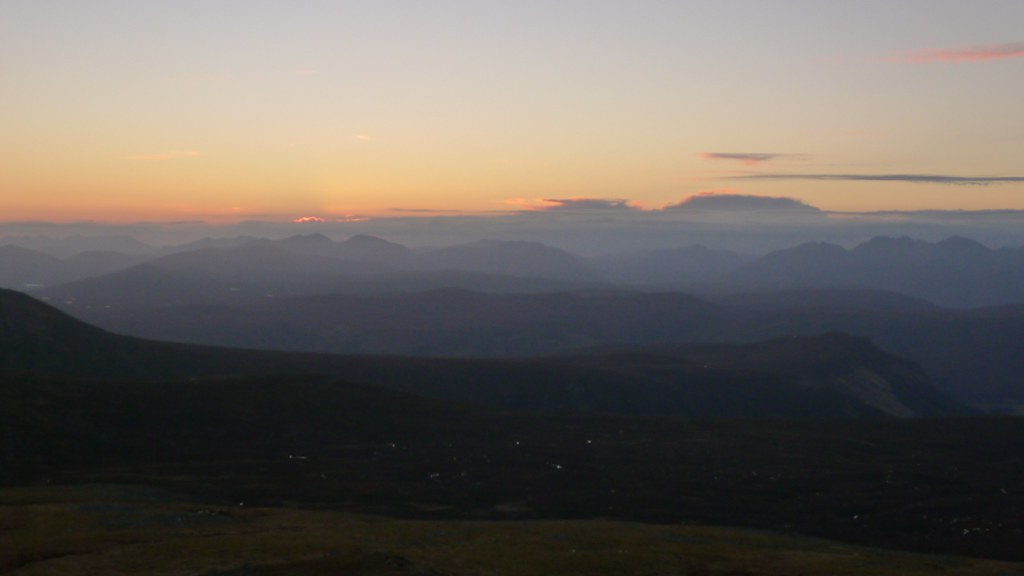 Fisherfield after sunset
