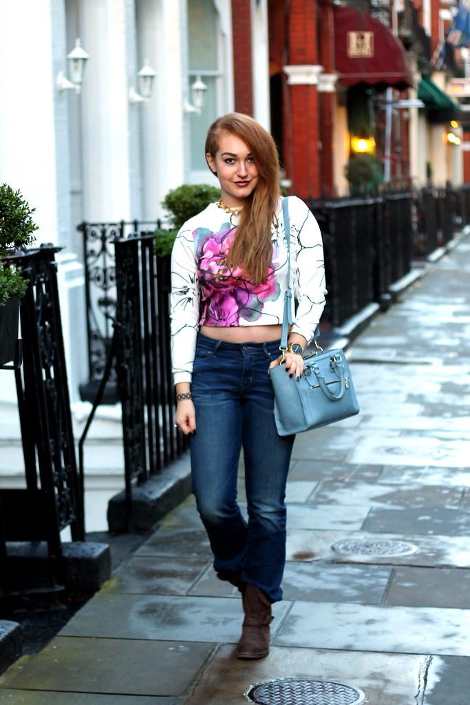 Asos petal crop jumper, bootcut jeans (8)