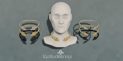 lassitude & ennui Torc necklaces for The Secret Affair