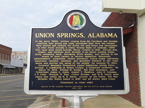 Union Springs Alabama Marker (Obverse) Union  Springs AL