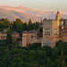 Sunset light on the Alhambra Fortress, Granada, Andulusia, Spain by jaros 2(Ron)