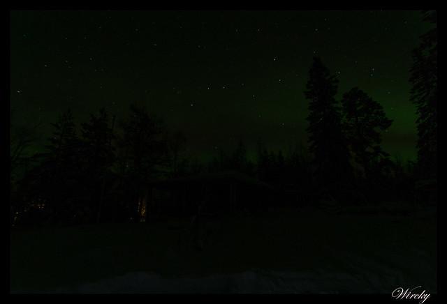 Laponia aurora boreal - Comienzo de la aurora boreal