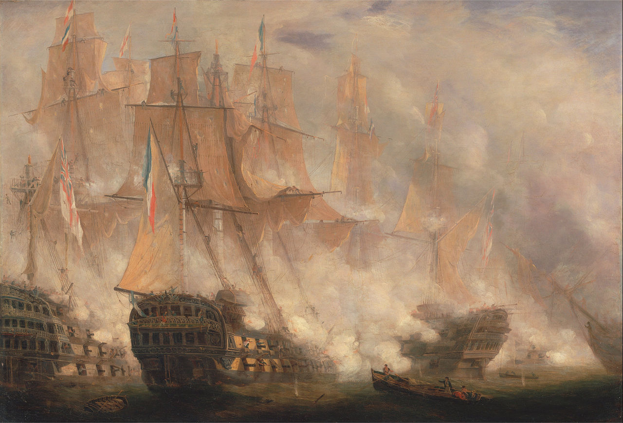 The Battle of Trafalgar by John Christian Schetky, 1841