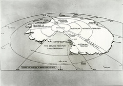 Map of Antarctica, 1955