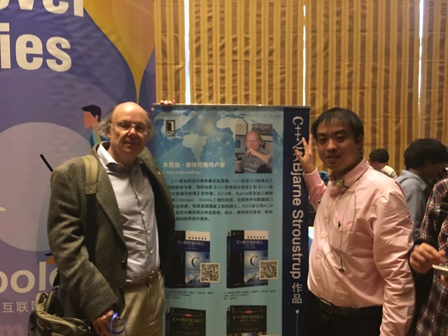 With Bjarne Stroustrup, father of C++ programming language after translating his speech