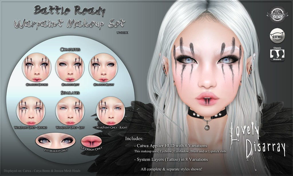 Lovely Disarray - Battle Ready  Warpaint [Unisex] @ Suicide Dollz - SecondLifeHub.com