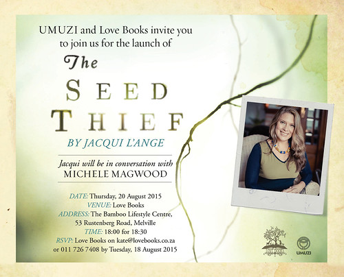 Invitation to the launch of The Seed Thief