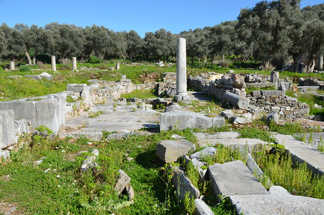The Agora, reconstructed mainly during Hadrian's time, its initial building must have started in the 4th century BC, Iassos, Caria, Turkey