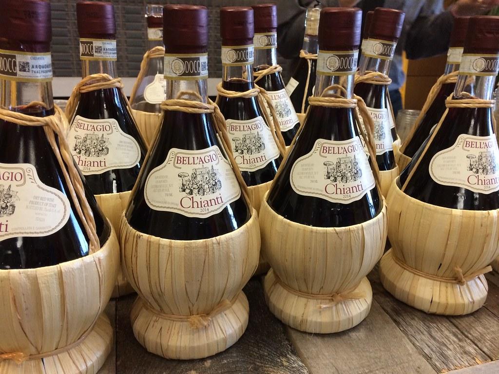 Chianti Italian Wine Bottles