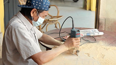The Hip-Pop SIGNBOARD CARVER • Craftsman Shows How to Make • George Town • MALAYSIA-14