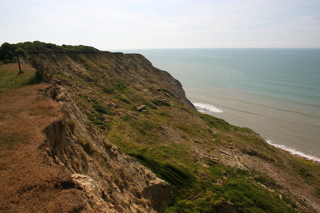The coast path between West Bay and Eype