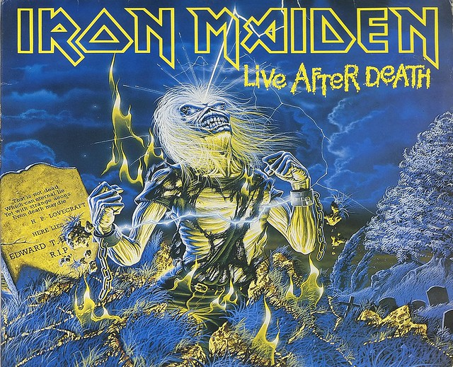 "IRON MAIDEN Live After Death World Slavery Tour 1984/85 2LP Germany 12"" ALBUM VINYL"