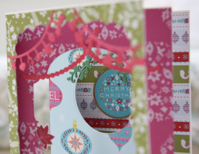 Folk Christmas Aperture Card Close Up | StickerKitten