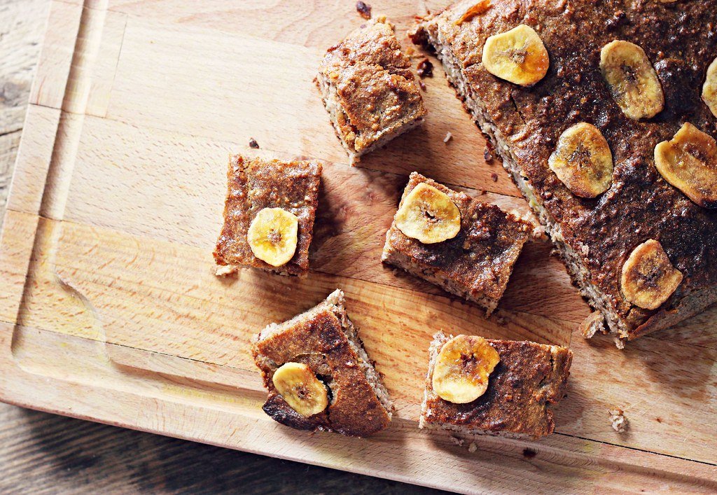 Healthy banana bread bites recipe the little magpie