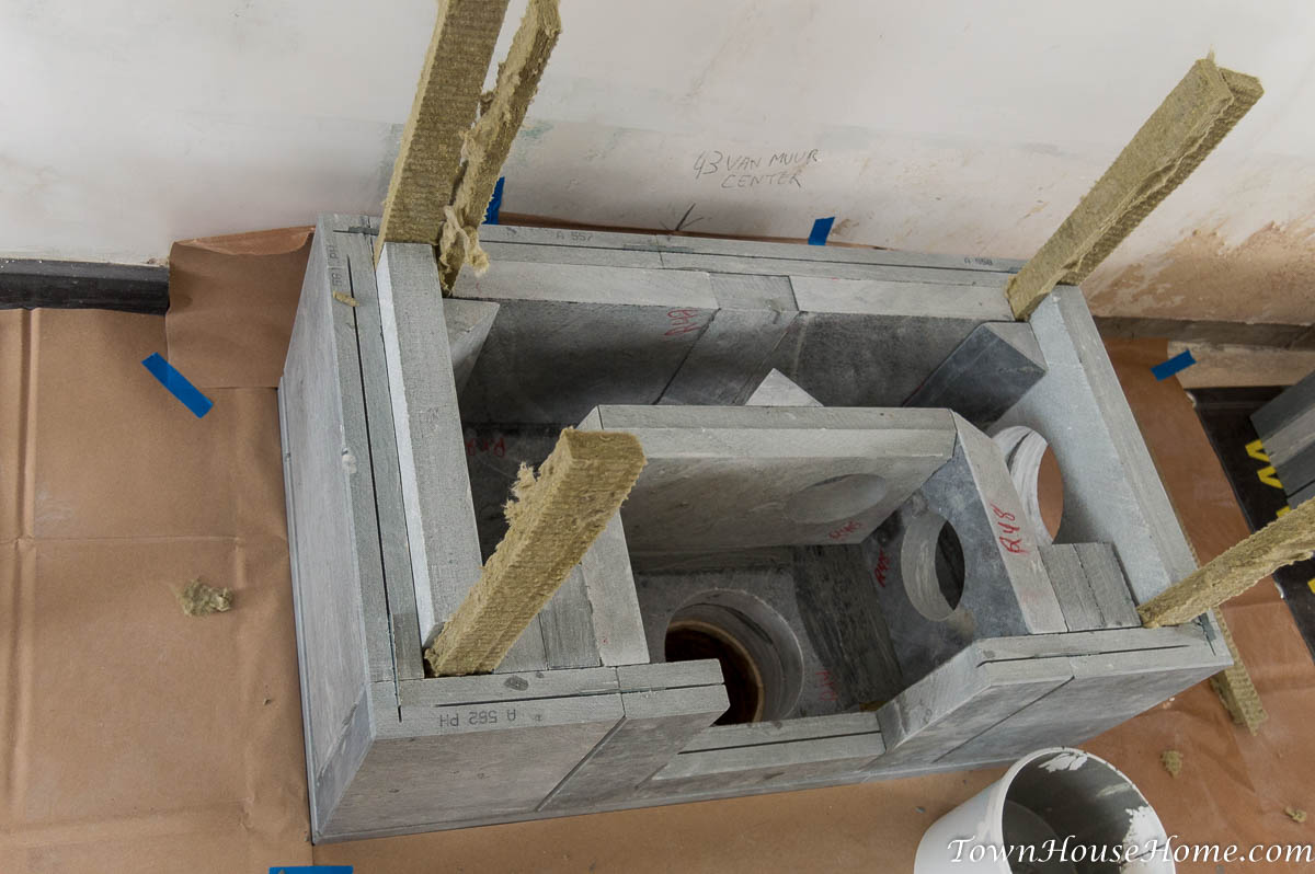Soapstone fireplace installation exit vent
