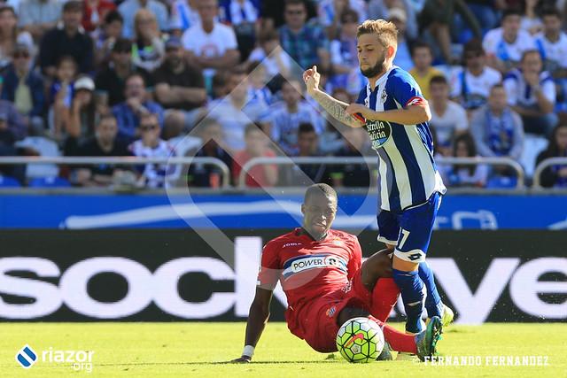 Temporada 15/16. Jornada 6ª. R.C.Deportivo 3 - R.C.D. Espanyol 0