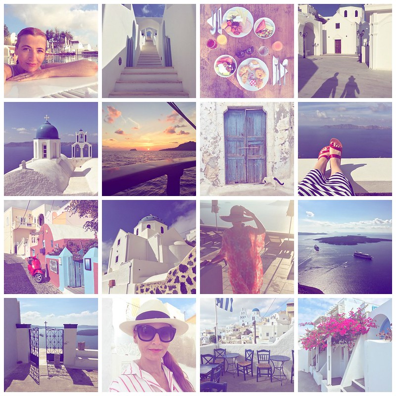 Montage of Instagrams from Santorini, Greece