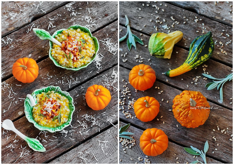 ...orzotto pumpkin and sage collage