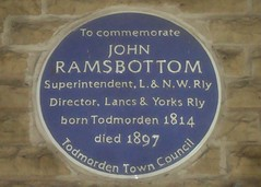 Photo of John Ramsbottom blue plaque