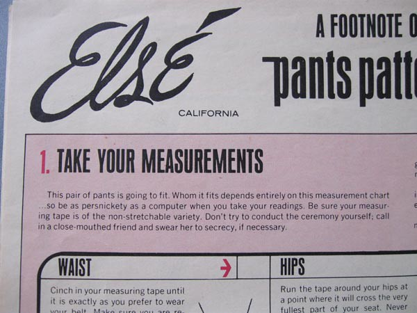 Else pants take your measurements