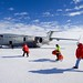 Secretary Kerry Approaches a Waiting U.S. Air Force C- 17 Cargo Plan at Pegasus Air Field in Antarctica by U.S. Department of State