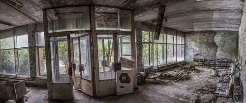 Inside the abandoned city of Pripyat / Creative commons panorama