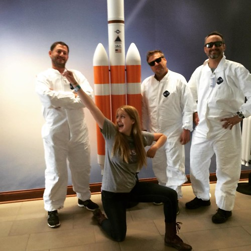 Me and my ghost busters at @ulalaunch yesterday... Fortunately we didn't encounter any ghosts cuz I'm not sure these guys could have handled it! :) #TheMarsGeneration #ulalaunch #rocketpower #deltaIV