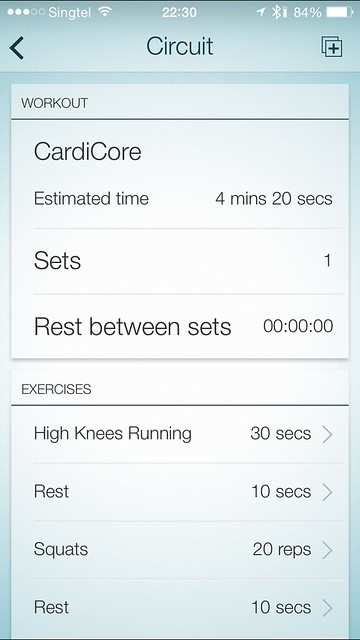 Jabra Sport iOS App - Cross Training Workout