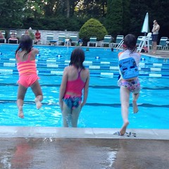 Ok. One more time. #pool #swimming #jump #fun #sisters #friends