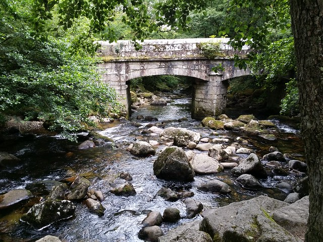 Shaugh Bridge. Where the River Meavy meets the Plym