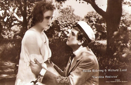 Renée Björling and Richard Lund in Carolina Rediviva (1920)