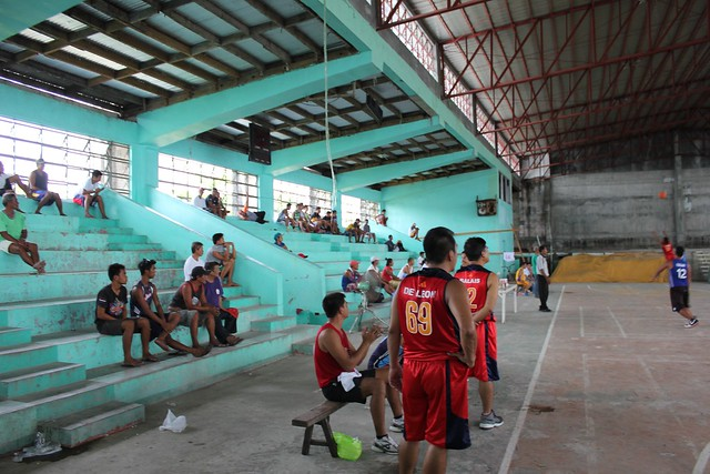 The newly-rehabilitated Carigara Civic Center plays host to local basketball games
