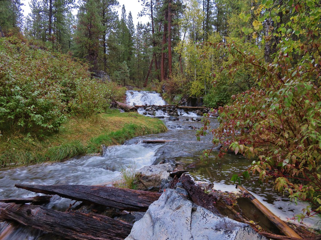 Small waterfall on Paulina Creek