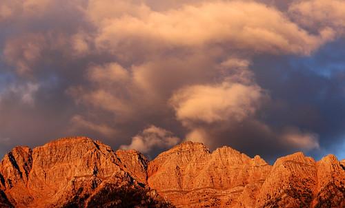 sunset sky cloud mountain rock britishcolumbia rockymountains alpenglow eveninglight eastkootenay thesteeples hughesrange stormscloudssunsetssunrises