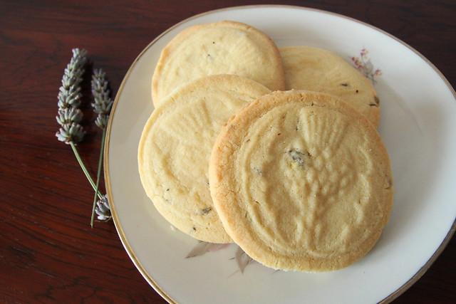 Orange and lavender shortbread