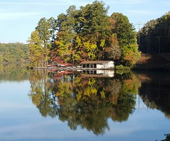 the boat house in Autumn