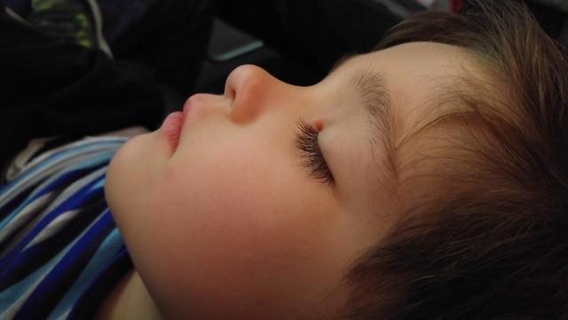 Someone slept on the 1st flight