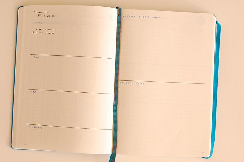 Future log and Someday tasks