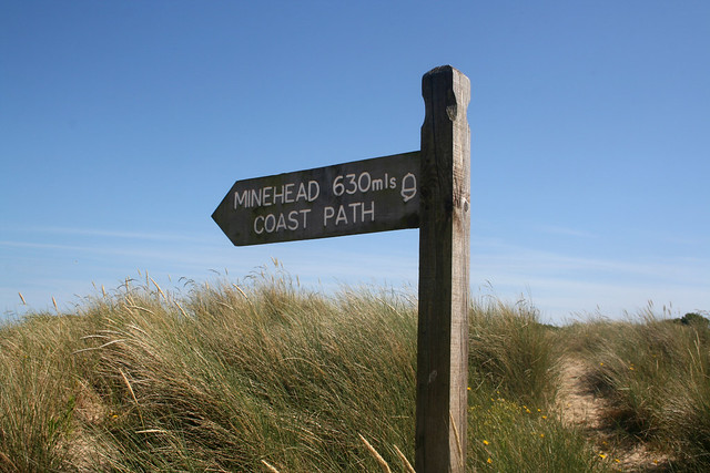 The start of the South West Coast Path